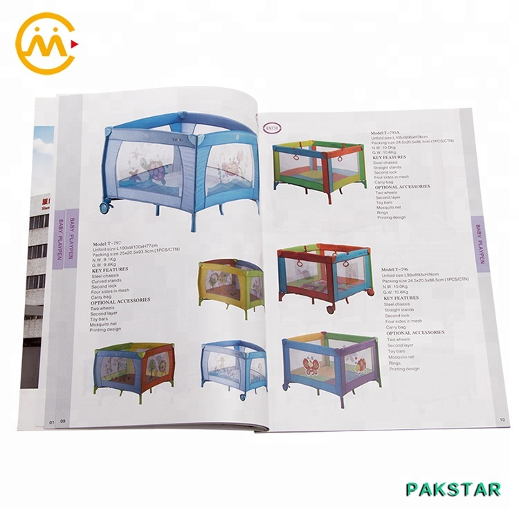 Wholesale softcover custom coloring magazine photo book printing