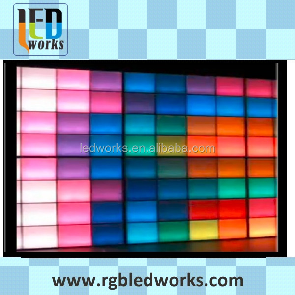 2017 sound interactive LED decorative video wall panel light for night bar
