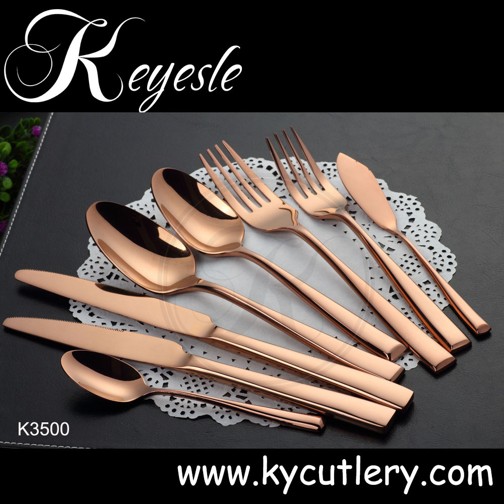 stainless steel tableware copper cutlery wedding hotel restaurant cutlery set buy restaurant. Black Bedroom Furniture Sets. Home Design Ideas