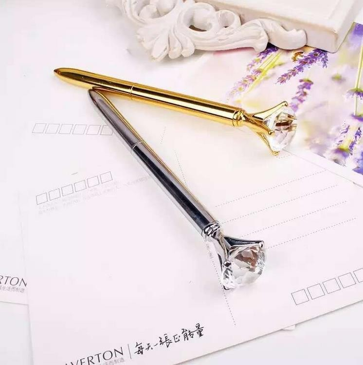 Factory wholesale pen with crystal ball pen giveaway gift promotional luxury crystal diamond ballpoint pens