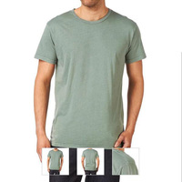 O-Neck Collar plain solid man's t shirt china supplier wholesale uk
