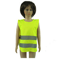 Newest 100% polyester knitted fabric hi vis reflective tape child safety product