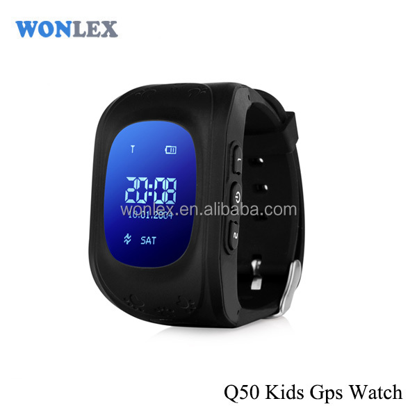 wrist watch wearable gps tracker for kids with SOS panic button, GPS+LBS, android and iOS app and long standby