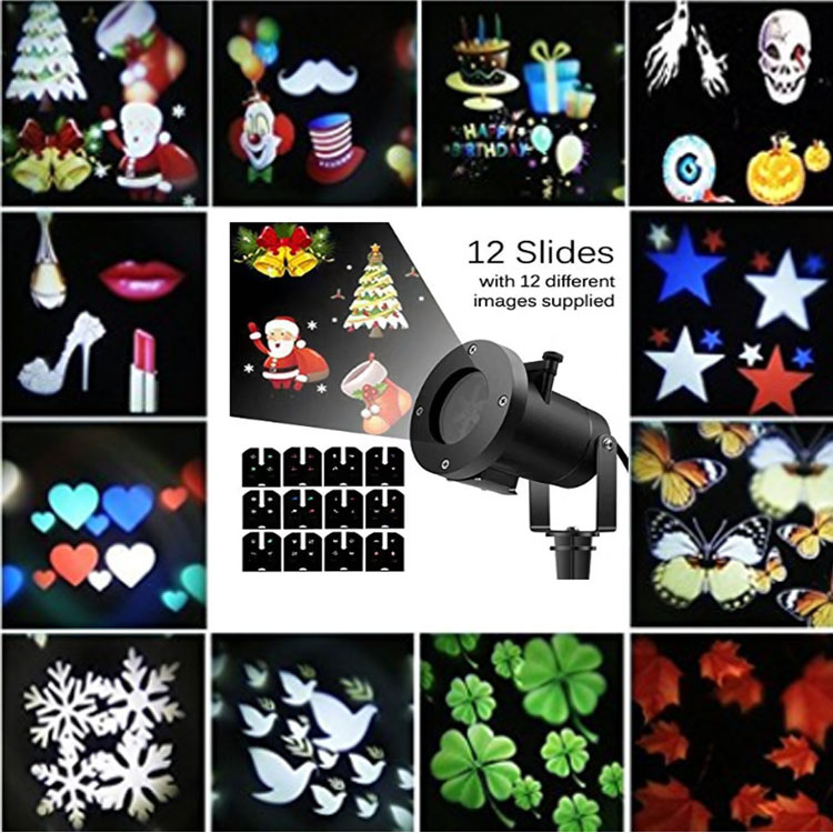 12 Patterns LED Landscape Light Waterproof Garden Lighting for Halloween Outdoor Christmas Projector Lights Lamp Holiday Party