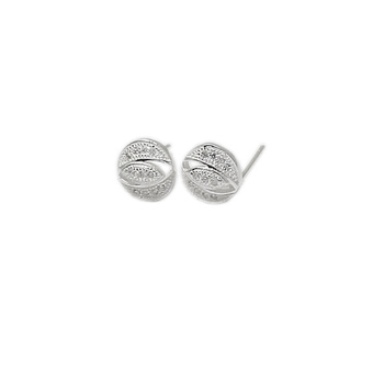 Beadsnice ID 28559 silver stud micro pave CZ earring wholesale