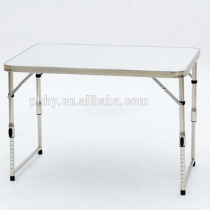 Alu brushed stainless steel folding picnic table