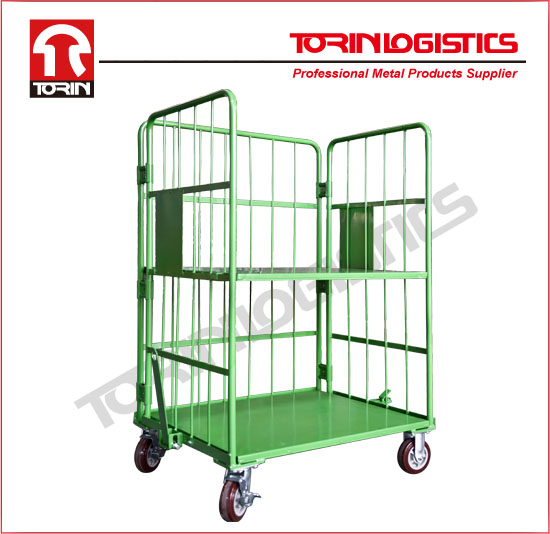 Industrial steel folding roll cage trolley carts (L1450*W700 mm/OEM)