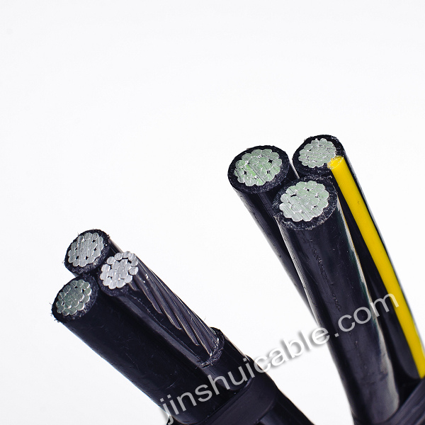overhead PE/XLPE insulation covered line wire aluminum conductor