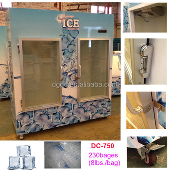 Glass Door Bagged Ice Storage Bin For Outdoor Amp Indoor Use
