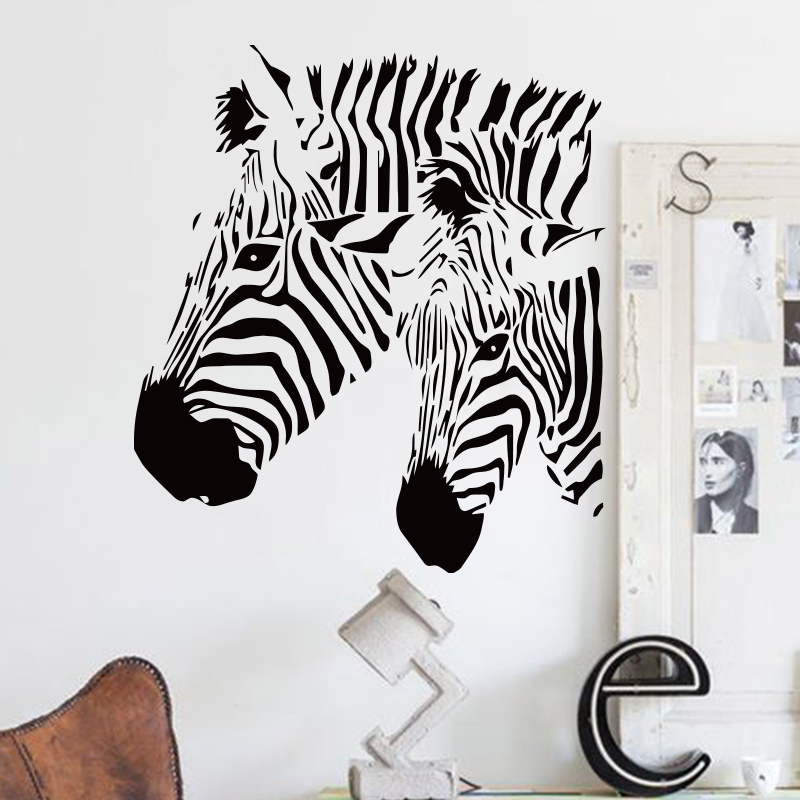 Art design cheap home decor vinyl beautiful zebra wall - Cheap wall decals for living room ...