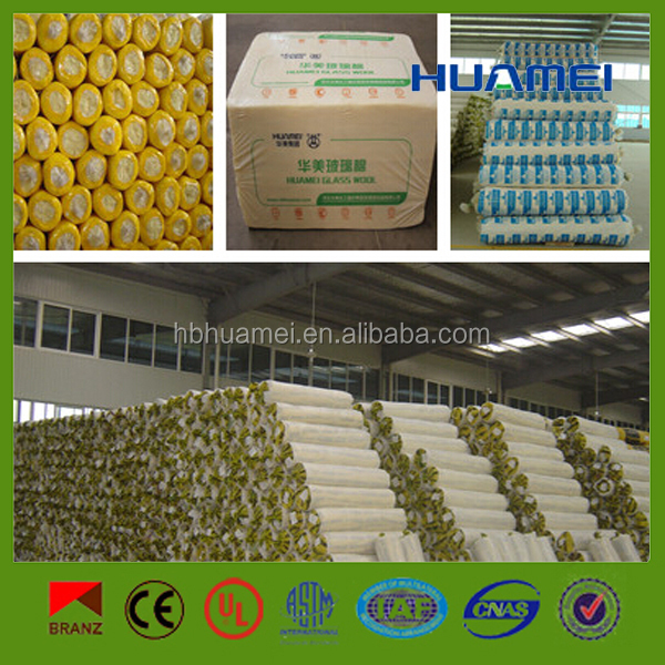 Glass fiber cheap price fiber glass wool blanket/roll supplying glass wool board