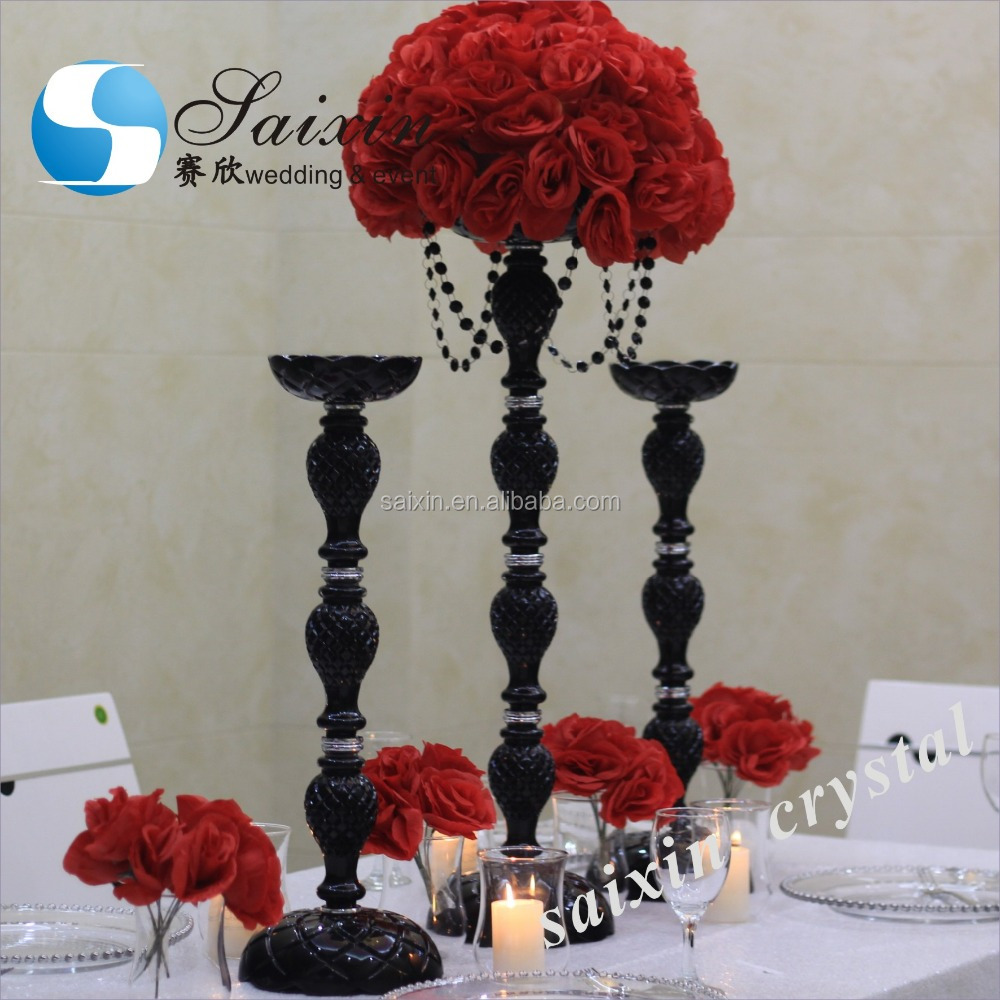 Beautiful Cheap Black Flower Stand Center Pieces Wedding Decorations Buy Cheap Wedding Stage Decorationcheap Center Piecescenterpieces Weddings