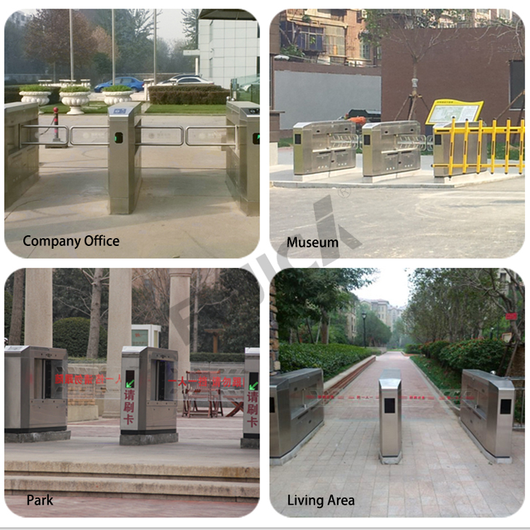 Indoor outdoor pedestrian swing barrier gates for disabled