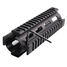 Tactical AR-15 Carbine 7 Inch handguard ar15 RIS Quad Rail 2 Piece Drop-In Picatinny Mounting M4 Handguard