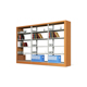 Restaurant Cheap price portable stainless floating bookcase portfolio with ladder book case