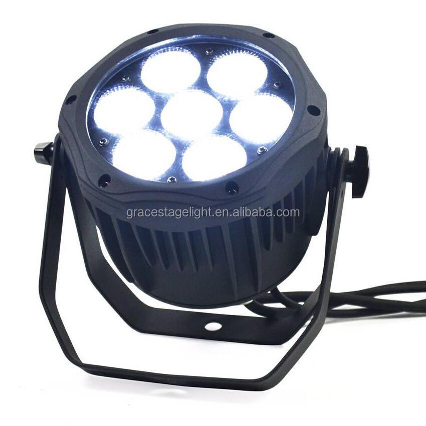 waterproof IP65 outdoor led par 7x18w 6in1 RGBWA led par can led par64 for stage performance no noise