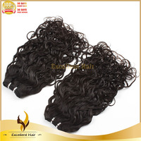 Trade Insurance Products Hair Virgin Color Natural Black Double Drawn Machine Made Wefts Wholesale Hair Extenisons