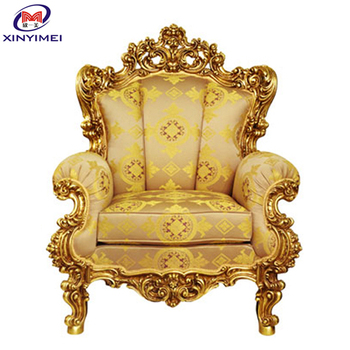 Merveilleux Golden Luxury Elegant King Chair In Classical Design