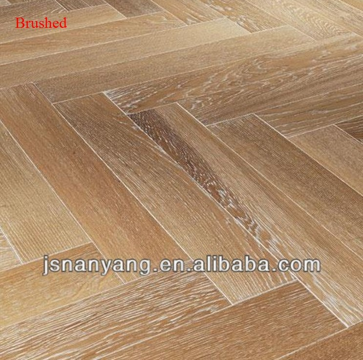 Made in china white oak herringbone fishbone engineered for Cheap engineered wood flooring