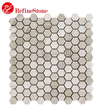 Cheap Hexagon Stone Tile Mosaic, White Marble Mosaic for Decoration