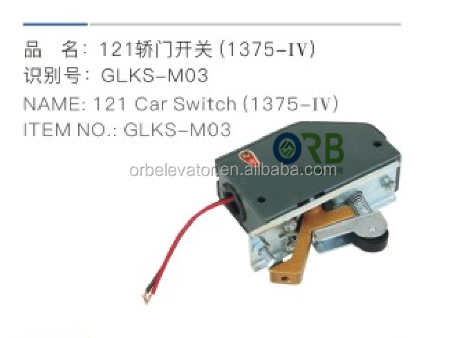 Elevator car door switch