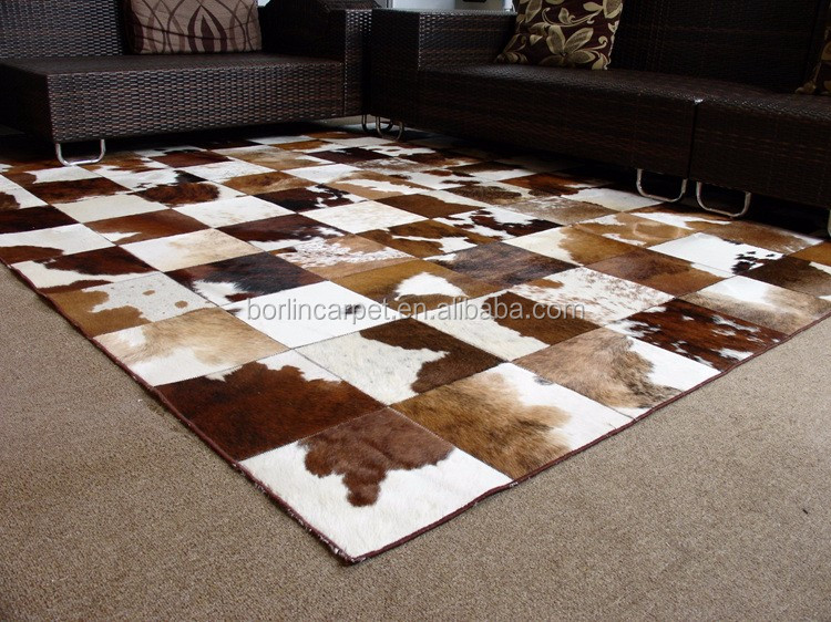 new cowhide rug large new skin leather bull carpet buy cow leather carpets cow skin rug. Black Bedroom Furniture Sets. Home Design Ideas