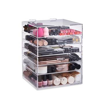 Wholesale High Quality Acrylic Makeup Organizer Cosmetic Display Stand With Drawers - Buy ...