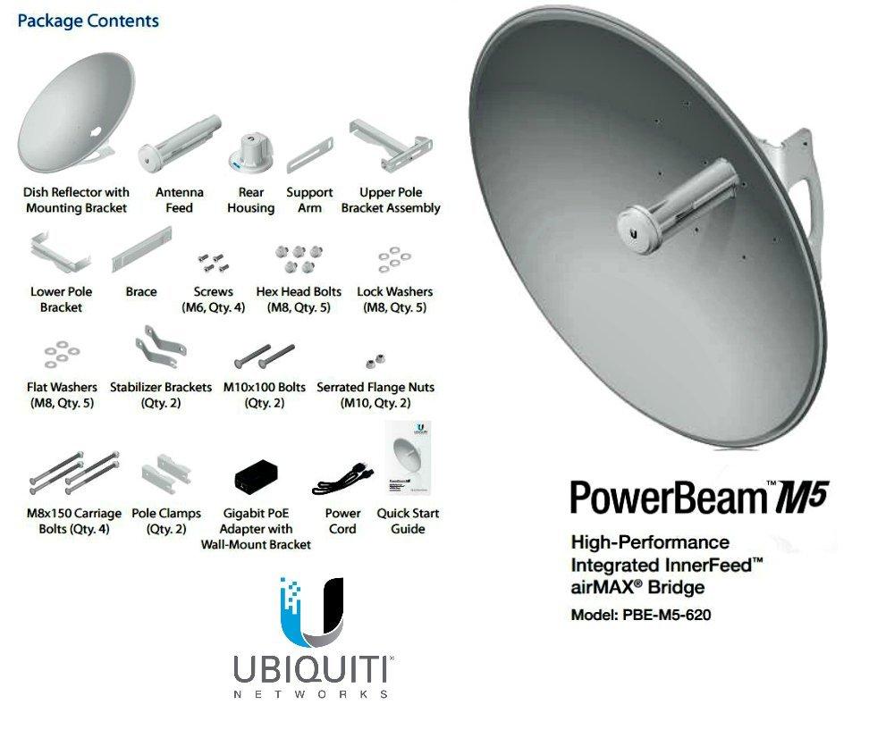 UBIQUITI NETWORKS PBE-M5-620 Ubiquiti PBE-M5-620,PowerBeam M5 5GHz 29dBi 620mm airMAX Bridge Ubiquiti Networks PBE-M5-620 PowerBeam airMAX PBE-M5-620-US B&H