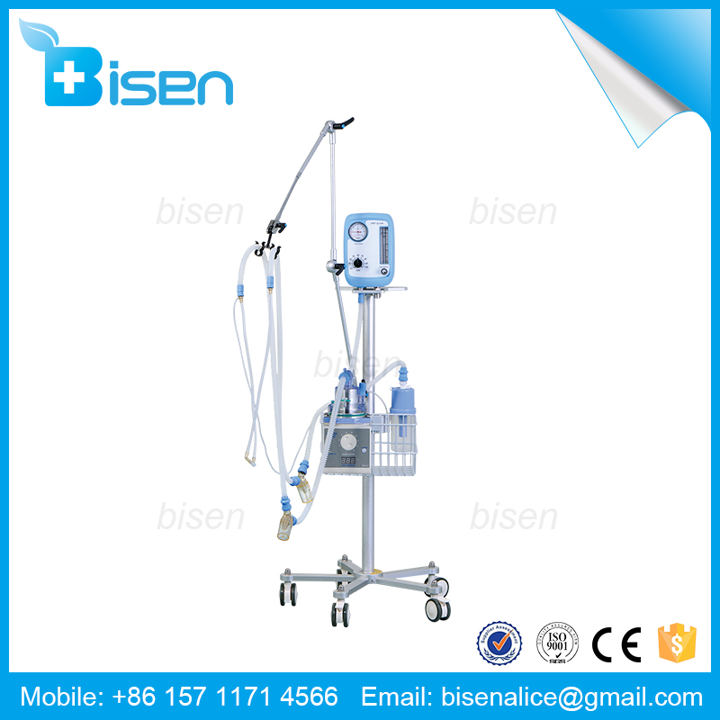BS-NLF-200D Neonatal ICU Ventilator with Bubble CPAP System for Newborn & Infant Baby Emergency Breathing in Hospital