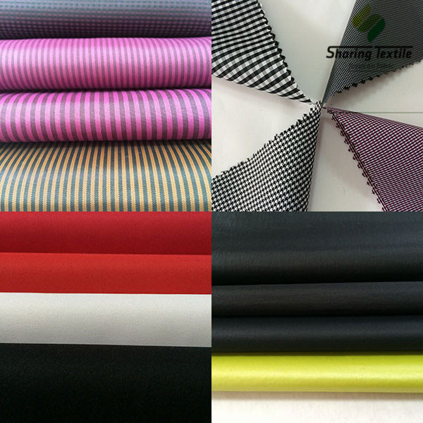 100% Polyester Stripe Silk Fabric/Silver Coated Fabric/ Gift Box Lining Fabric