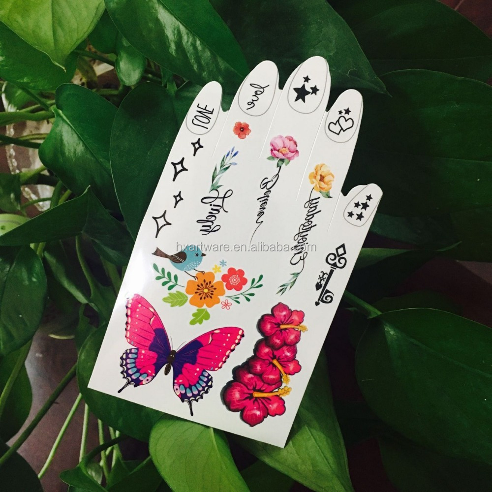 Fake skin safe butterfly tattoo sticker temporary tattoo