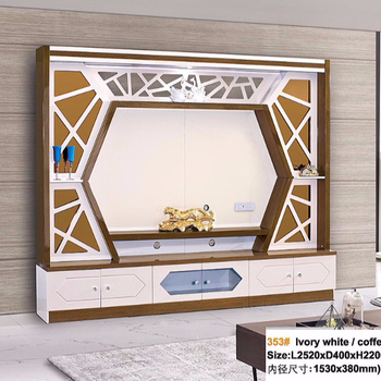 Latest Design Fashion Tv Stand 2m Long Wooden Furniture White And Bright  Appearance With Glass Showcase Tv Unit For Hall - Buy Led Tv Stand ...