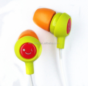 Plastic Case pvc Cable Earphones