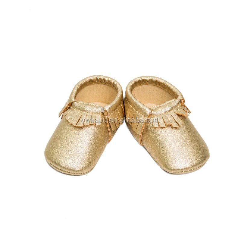 2016 New style baby leather shoes new born baby shoes with flower in stock