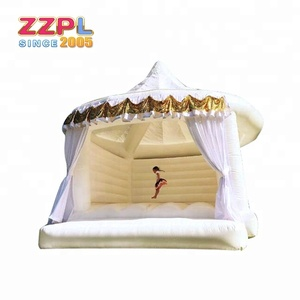 2018 Hot sale white bounce house white bouncy castle for wedding