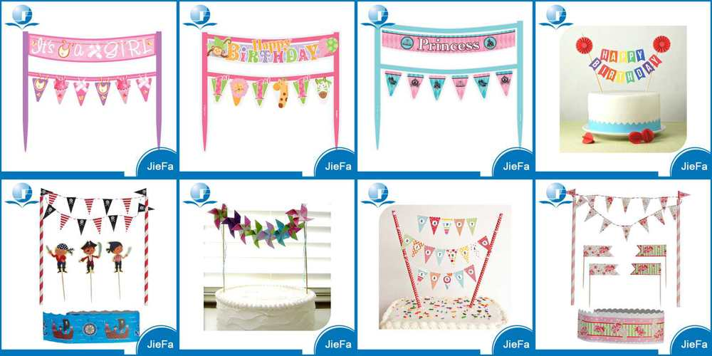 Paper Banners to Decorate Cakes Crafthubs