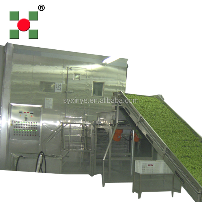 iqf mango industrial frozen food iqf fluidized flow bed freezer/iqf tunnel blast freezer