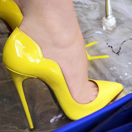 Yellow Pumps Heels Fs Heel