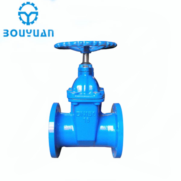 Dark rod soft sealing elastic seat seal DN100 flange gate valve