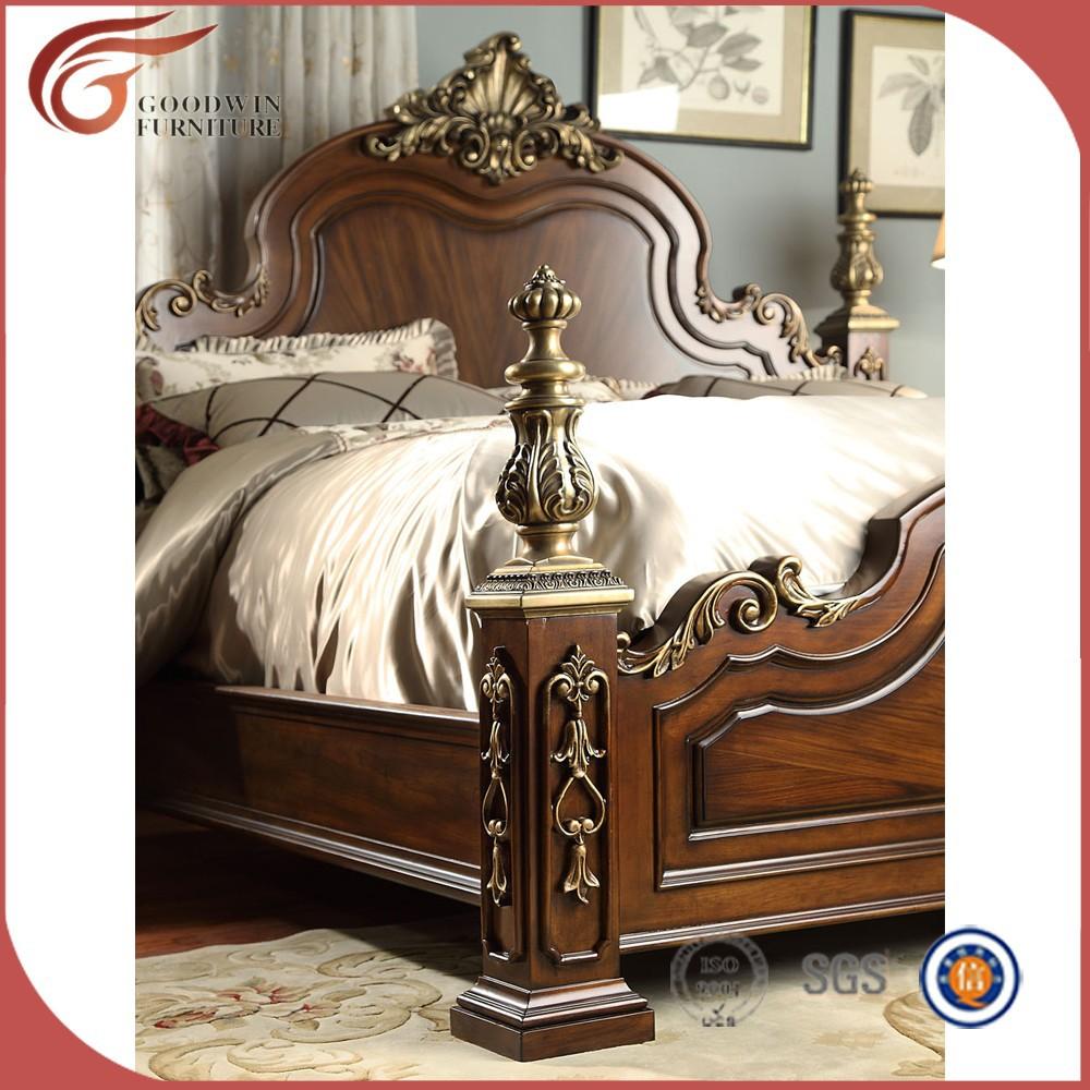 Madera Camas King Juego De Dormitorio Muebles De China Wa152  # Muebles Camas King Size