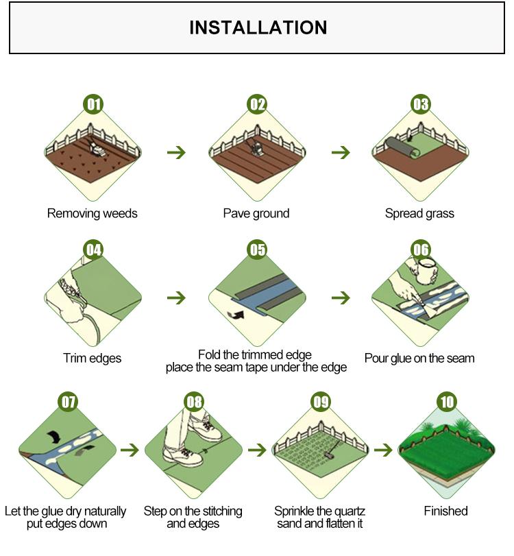 ปลอม leisure สังเคราะห์สนามหญ้าประดิษฐ์หญ้า