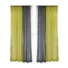Factory supply colorful woven linen cheap curtain fabric for home