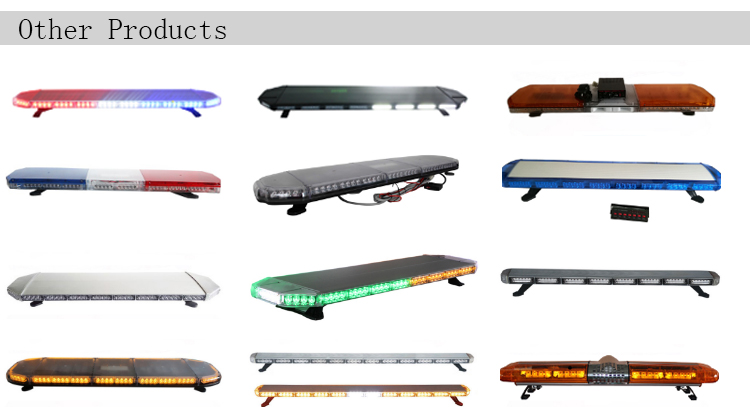 High quality aluminum housing Led car roof top police emergency vehicle light bar