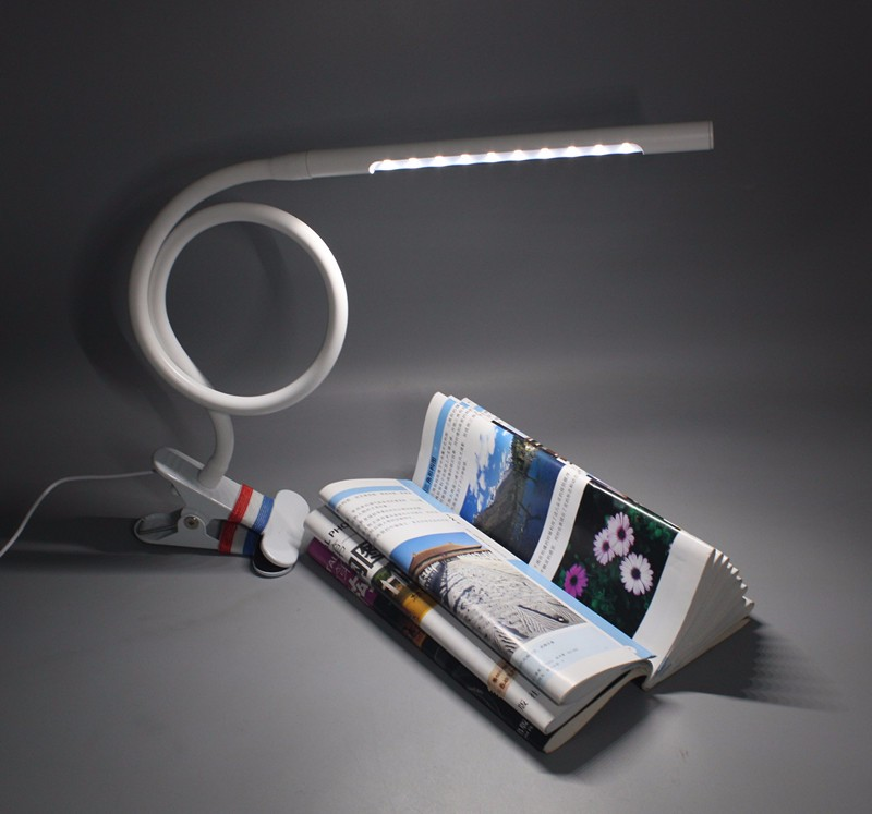 Modern Clip-On Flexible Arm Usb Led Bed Headboard Reading Light
