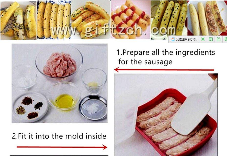 DIY Sausages silicone mould