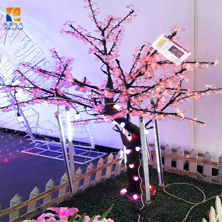 2018 New Style artificial cherry tree beautiful outdoor decoration tree lights