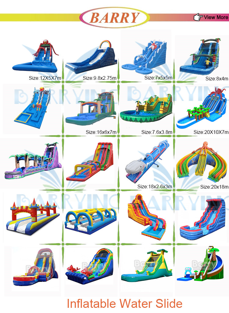 Giant inflatable hurricane water slide price china factory