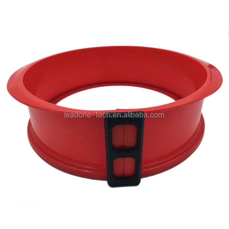 Rectangle silicone cake mould with glass base springform pan