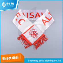 Hot selling new design advertising fleece football fan scarf