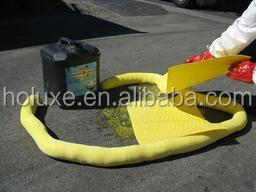 Chemical Spill Cleanup Absorbent Pads and Rolls to soak up spills of acids